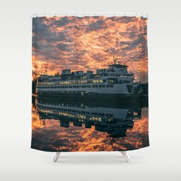 Friday Harbor Ferry Shower Curtain