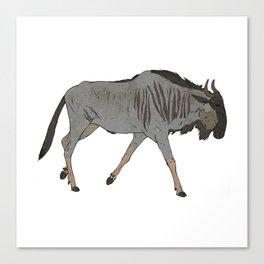 Blue Wildebeest Canvas Print