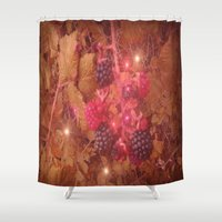 cocktail Shower Curtains featuring Blackberry Cocktail. by Heather Goodwin