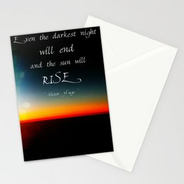 The Sun Will Rise Stationery Cards