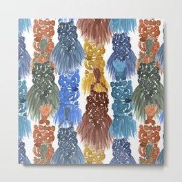 Macrame Tapestry Weavings Metal Print