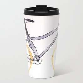 Coffee Wheels #04 Metal Travel Mug
