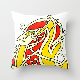 Viking Dragon of Infinite Warmth Throw Pillow
