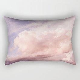 Perfect Pink Summer Sky Nature Photography Rectangular Pillow