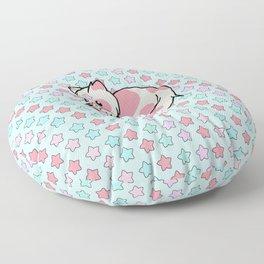 Strawberry Cream Stars Floor Pillow