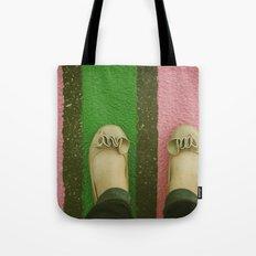 vintage pink & green Tote Bag
