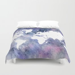 Design 65 world map Duvet Cover