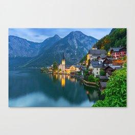 Hallstatt Village, Alps Canvas Print