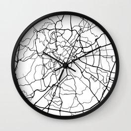 ROME ITALY BLACK CITY STREET MAP ART Wall Clock