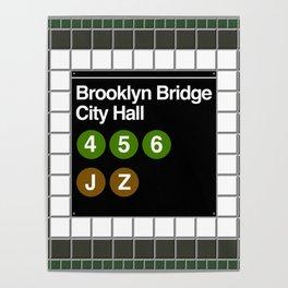 subway brooklyn bridge sign Poster