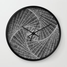 black and white spider web Wall Clock