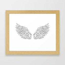 Polygonal wings Framed Art Print