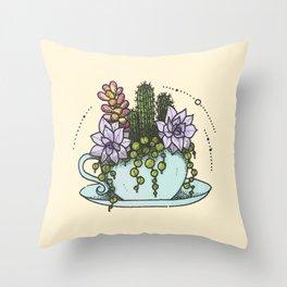 Tea Succs Throw Pillow