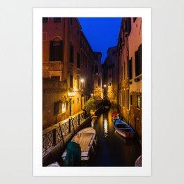 Calm Corridor in Venice, Italy Art Print