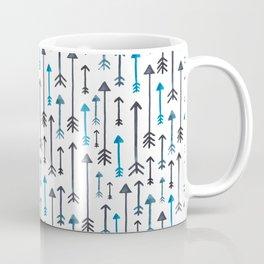 Watercolour Blue Arrows Coffee Mug