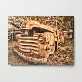 Old pickup ( Photo by Antal Ullmann ) Metal Print