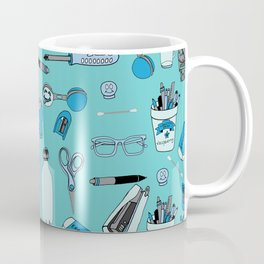 Things at my desk Blue theme Coffee Mug