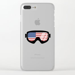 USA Goggles | Goggle Designs | DopeyArt Clear iPhone Case