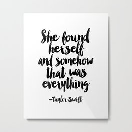 Quote,Swift Quote,Typography Print,Pardon My French,Inspirational Quote,Wall Art,Girls Room Metal Print