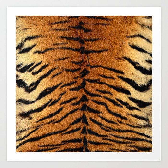 Faux Siberian Tiger Skin Design Kunstdrucke