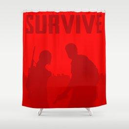 Minimalist Ellie and Joel ( The last of us ) Shower Curtain