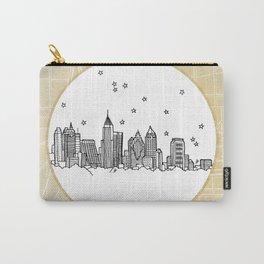 Atlanta, Georgia City Skyline Illustration Drawing Carry-All Pouch