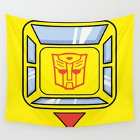 transformers Wall Tapestries featuring Transformers - Bumblebee by CaptainLaserBeam