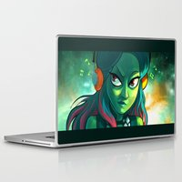 guardians of the galaxy Laptop & iPad Skins featuring Gamora - Guardians of Galaxy by Annalisa Leoni