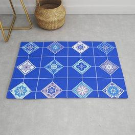 Talavera Mexican Tile – Blue Palette Rug