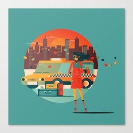 Cab Girl Canvas Print