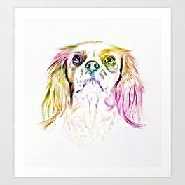 Cavalier King Charles Spaniel Dog Art Painting Art Print