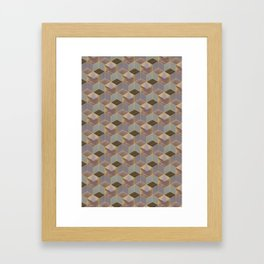 The Cube and the Yellow Light Framed Art Print