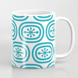 Mid Century Modern Atomic Bands Pattern Turquoise Coffee Mug