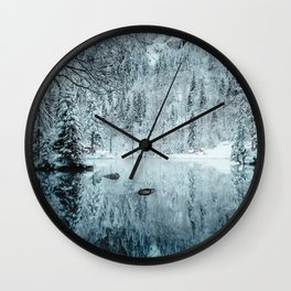 Swiss winter #society6 #decor #buyart Wall Clock