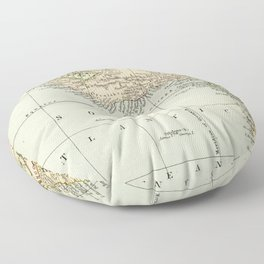 West  & North Africa Vintage Map Floor Pillow