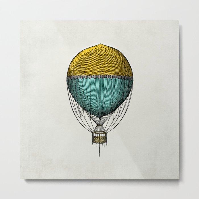 Vintage Hot Air Balloon Metal Print