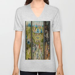 Hieronymus Bosch's The Garden of Earthly Delights Unisex V-Neck