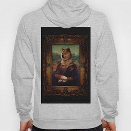 Doge Mona Lisa Fine Art Shibe Meme Painting Hoody
