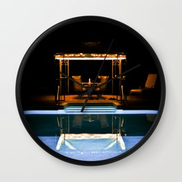 A Swim At Midnight Wall Clock