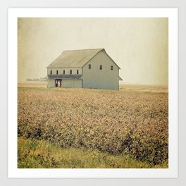 Lost in the prairie Art Print