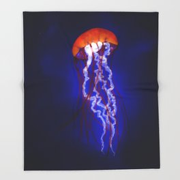 Jellyfish - Vulpecula Throw Blanket