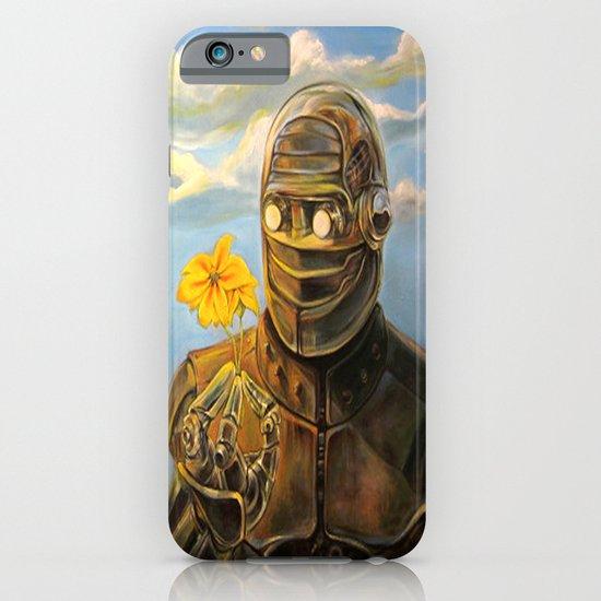 Robot & Flower iPhone & iPod Case