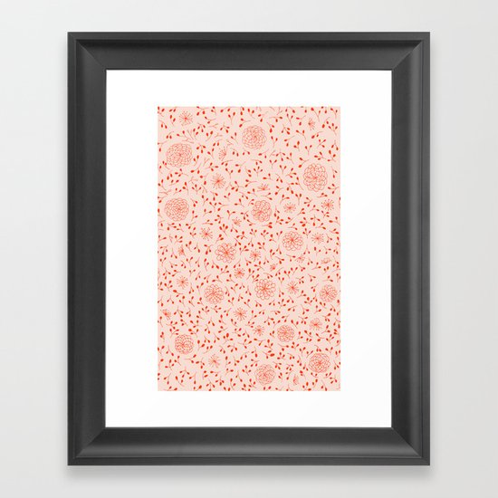 Dahlia Pattern Framed Art Print