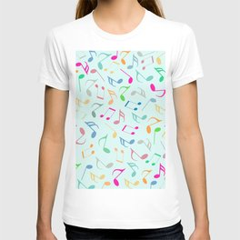 Music Colorful Notes T-shirt