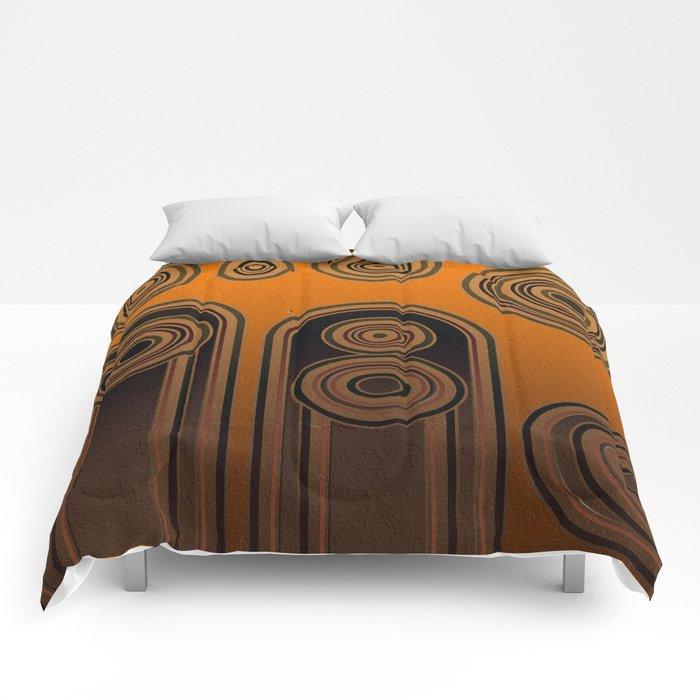 retro shapes Comforters