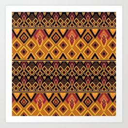 Yellow plaid. The creative pattern . Art Print
