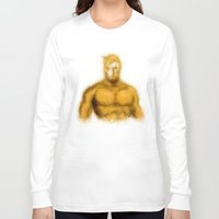 aquaman Long Sleeve T-shirts featuring Aquaman by KitschyPopShop