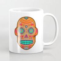 sugar skull Mugs featuring Sugar Skull by Good Sense