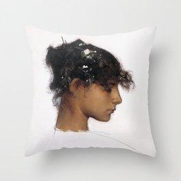 John Singer Sargent - Rosina Ferrara, Head of a Capri Girl Throw Pillow