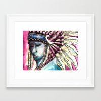 native Framed Art Prints featuring Native by Siriusreno